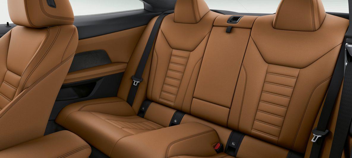 BMW 4er Coupé G22 2020 Innenraum Sportsitze Fond