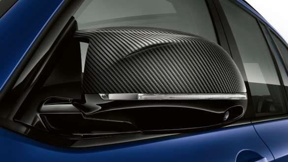 BMW X3 M Competition F97 LCI Facelift 2021 Frozen Marina Bay Blau metallic M Carbon Spiegelkappen