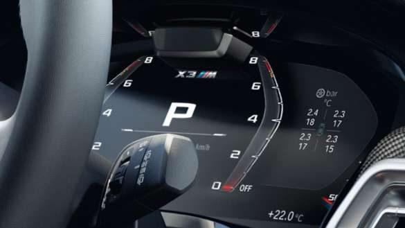 BMW X3 M Automobile F97 LCI Facelift 2021 M spezifische Instrumentenkombination